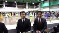 ダンススポーツ大会に出席。