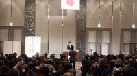 鶴保庸介君と明日の日本を語る会に出席。