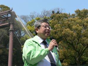わかやまNPOセンター豊田理事長からのあいさつ