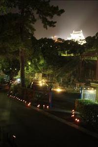 お城の動物園でも竹燈夜♪♪♪