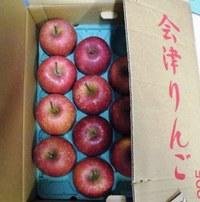 福島の実家からリンゴが届きました